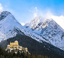 Castle in the Swiss Alps, Engadin by Colin Cianelli