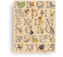 ABC Animals (with names) Canvas Print