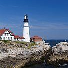Portland Headlight - Maine by Robert Kelch, M.D.