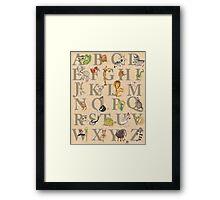 Animal ABCs Framed Print