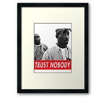 tupac and biggie Framed Print