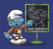 Attack on Titan Smurf Edition by Purrdemonium