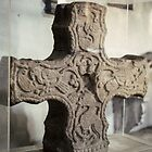 Cross top in St Michael's Church Museum Croftthorne England 198405140032 by Fred Mitchell