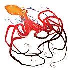 Red Octopus by ricardojurado