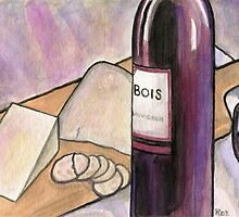 Wine and Cheese Tonight by Roz Barron Abellera