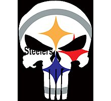 Pittsburgh Steelers Punisher Logo Photographic Print