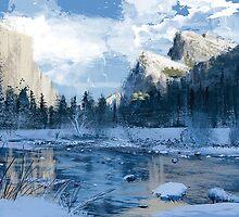 Yosemite in Winter by zackholtart