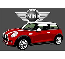 2014 Mini Cooper red Photographic Print