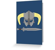 Iron helmet & imperial sword Greeting Card