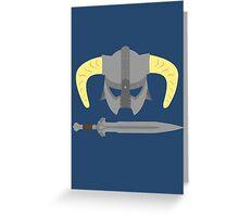 Iron helmet & imperial sword Greeting Card
