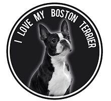 I love My Boston Terrier logo by Bostonterrierig