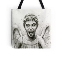 Weeping Angel Watercolor - Doctor Who Fan Art Tote Bag