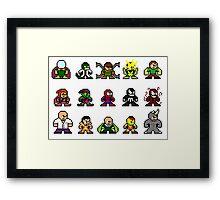 8-bit Spider-Man & Foes Framed Print