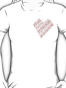 One Heart Shape Poem T-Shirt