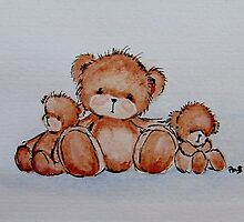 Bear and Cubs by Penny Bonser