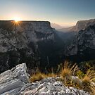 Vikos Gorge Sunset by James Grant
