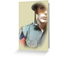 To Serve God and Country Greeting Card
