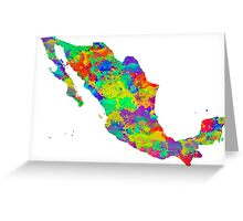 Mexico Watercolor Map Greeting Card