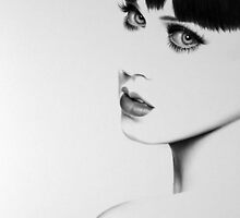 Katy Perry Minimal Portrait by IleanaHunterArt