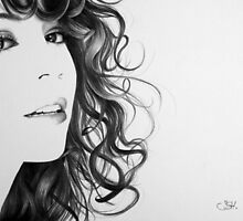 Mariah Carey Minimal Portrait by IleanaHunterArt
