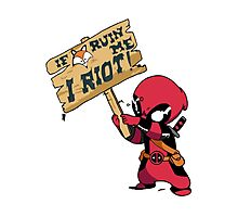 Deadpool Riot! Photographic Print