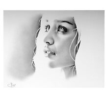 Daenerys Pencil Portrait by IleanaHunterArt
