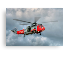 Royal Navy Search and Rescue Sea King Helicopter Metal Print