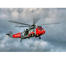 Royal Navy Search and Rescue Sea King Helicopter Photographic Print