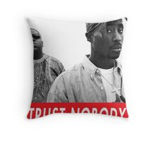 tupac and biggie Throw Pillow