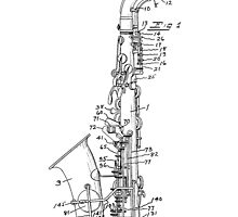 Saxophone Patent Drawing From 1933 by chris2766