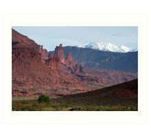 Fisher Towers and La Sals Art Print
