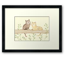 Cats on the Fence Framed Print