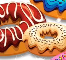 Donuts Party Time   Sticker