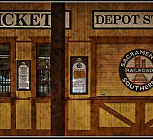 The Train Depot in Old Sacramento by thomr