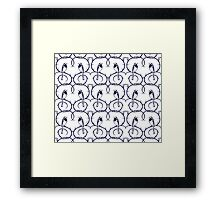 White Wagtail Pattern Framed Print