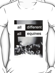 All different, all equines T-Shirt