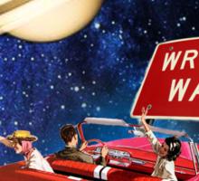 Wrong Way Sticker