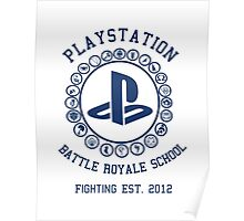 Playstation Battle Royale School (Blue) Poster