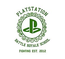 Playstation Battle Royale School (Green) Photographic Print