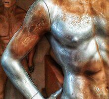Silver male mannequin in storage. by cherylkerkin