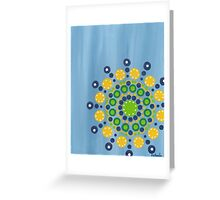 dots on blue background (1) Greeting Card