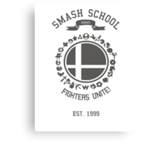 Smash School United (Grey) Canvas Print