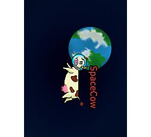 SpaceCow, lonely and bored  Photographic Print