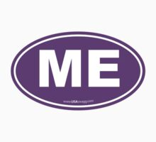 Maine ME Euro Oval PURPLE by USAswagg