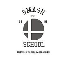Smash School (Grey) Photographic Print