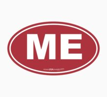 Maine ME Euro Oval RED by USAswagg