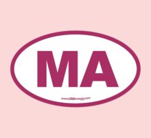 Massachusetts MA Euro Oval PINK Kids Clothes