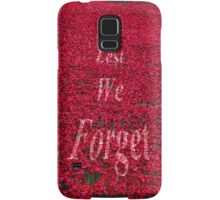 Poppies at The Tower of London - Lest we forget Samsung Galaxy Case/Skin