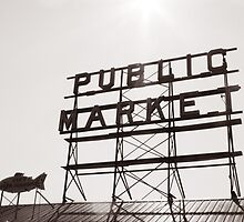 Pike's Place Market Sign by AwayLaughing
