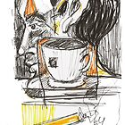 Abstract Man and Coffee by PhilosophyArt